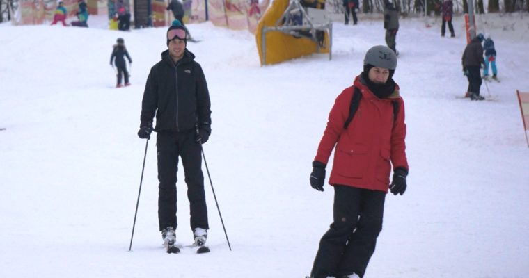 Skiing in Posazavi